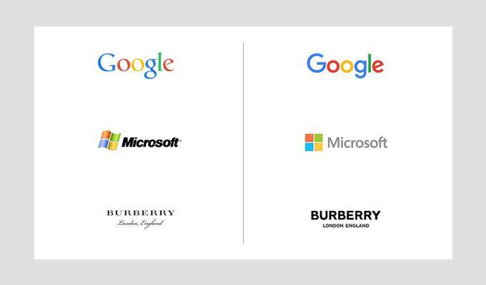 لوگوی گوگل و مایکروسافت از شروع تا به امروز