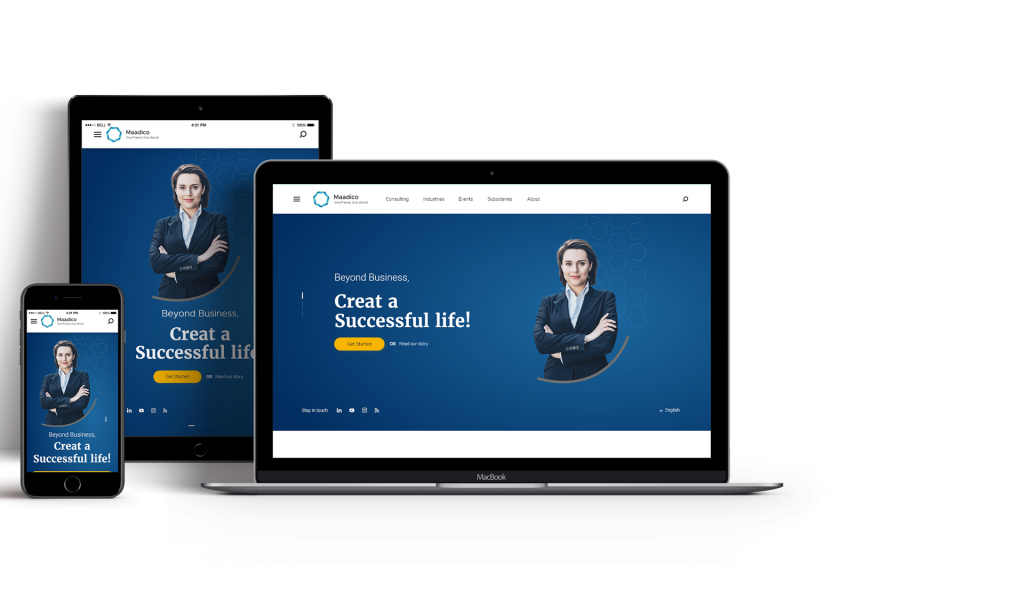 نمونه سایت طراحی سایت ریسپانسیو