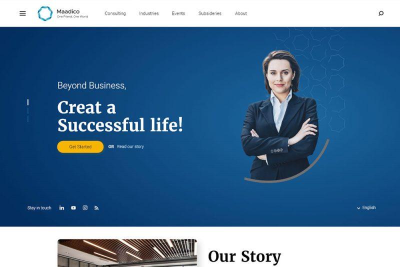 طراحی سایت حرفهای مادیکو